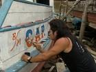 'Abridores de letras' embelezam os barcos que cruzam os rios do Pará
