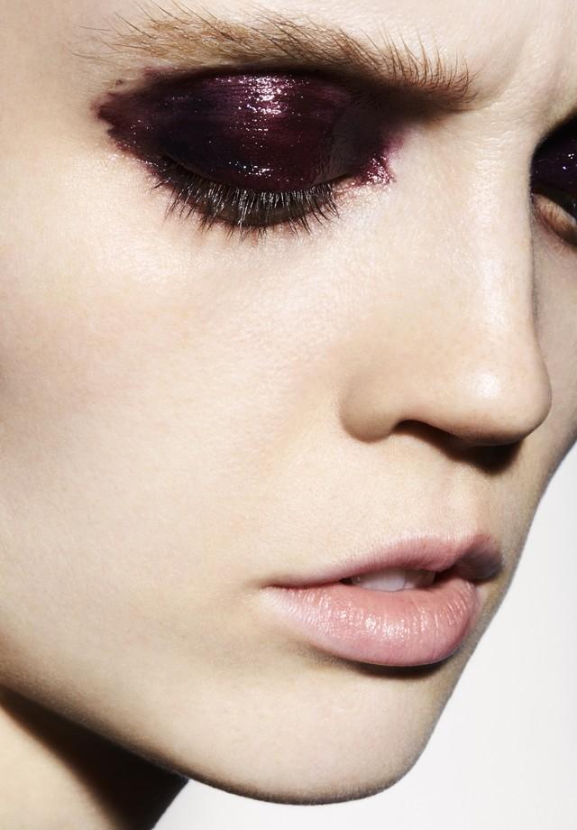 Beleza maquiagem holly sillius (Foto: David Oldham)