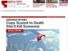 Policiais se preocupam com a conduta de Amanda Bynes, diz site