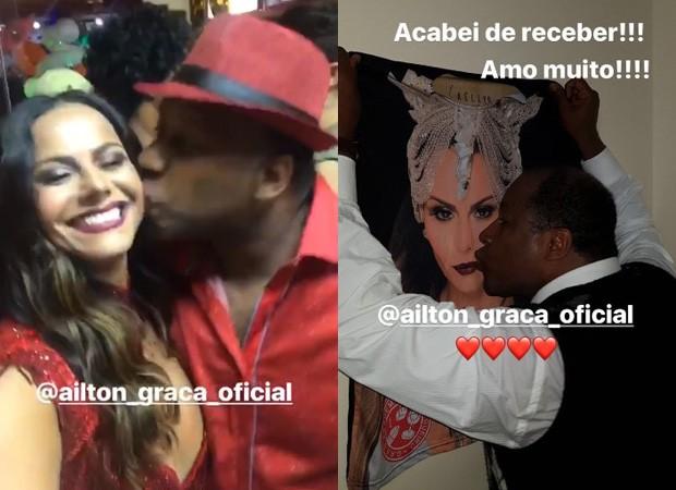 Viviane Araújo e Aitlon Graça (Foto: Reprodução/Instagram)
