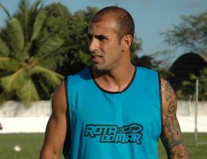 Fernando Sá, atacante do Auto Esporte (Foto: Lucas Barros / Globoesporte.com/pb)