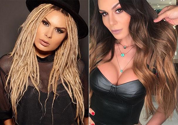 Fernanda Lacerda antes e depois da transformação (Foto: Reprodução/Instagram)