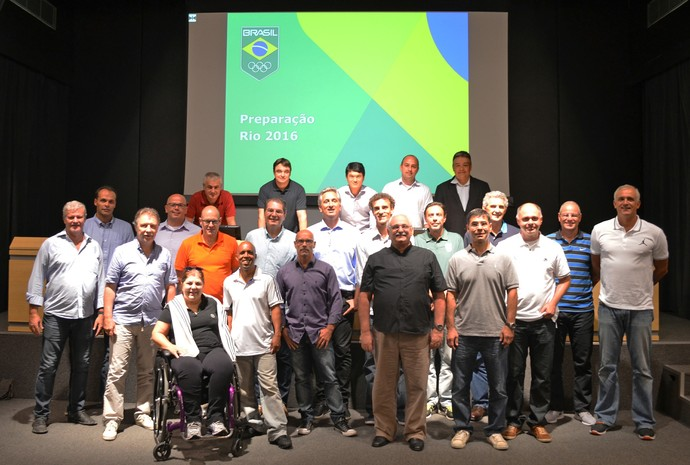 Encontro de esportistas Time Brasil 2016 no COB (Foto: Rafael Bello/COB)