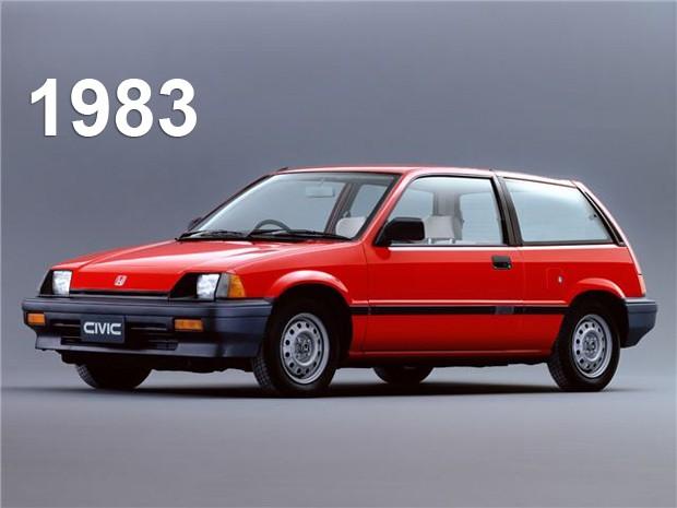 Terceira geração do Honda Civic, de 1983 (Foto: Divulgação)
