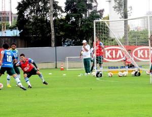 Valdívia no treino do Palmeiras (Foto: Marcelo Prado / Globoesporte.com)