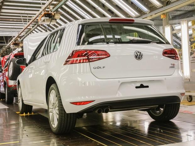 Volkswagen Golf produzido em São José dos Pinhais (PR) (Foto: Divulgação)