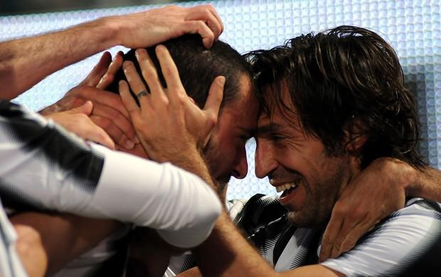 Bonucci pirlo juventus x palermo (Foto: AP)