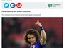 """Jornal exalta redenção de David Luiz no Chelsea: """"De palhaço a maestro"""""""