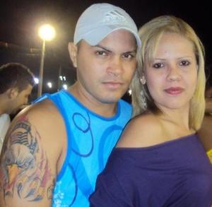 João Paulo Barros Sosa, torcedor do Corinthians, e a esposa (Foto: João Paulo Barros Sosa/Arquivo Pessoal)