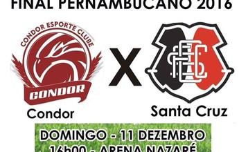 Santa Cruz e Condor duelam pela final do Pernambucano de Futebol 7