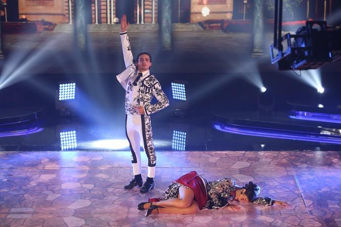 Brenno e Rachel fizeram performance sensual (Foto: Carol Caminha/Gshow)