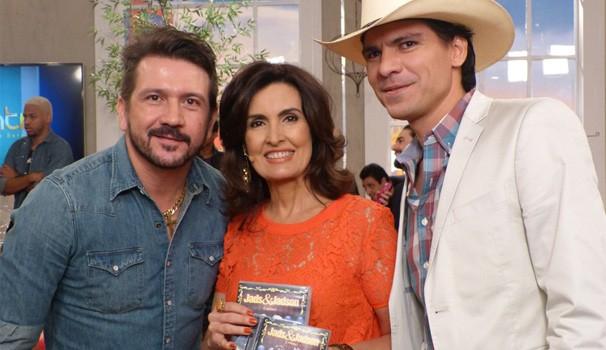 Jads e Jadson e Fátima Bernardes  (Foto: Encontro com Fátima Bernardes/TV Globo)