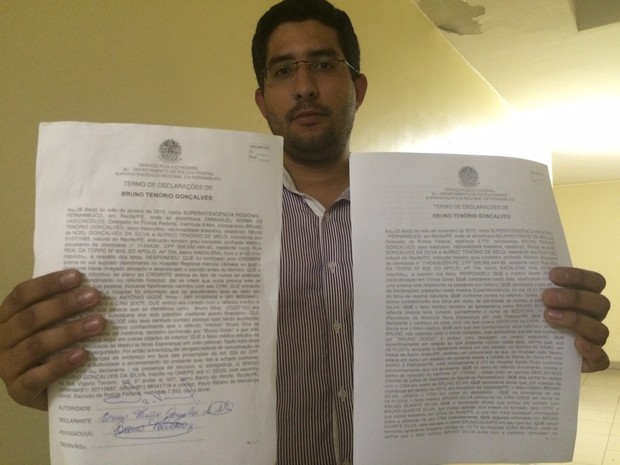 O médico Bruno Tenório, 30, denunciou um homem que se passava por ele em hospitais de Glória do Goitá e outras cidades de PE (Foto: Thays Estarque/G1)