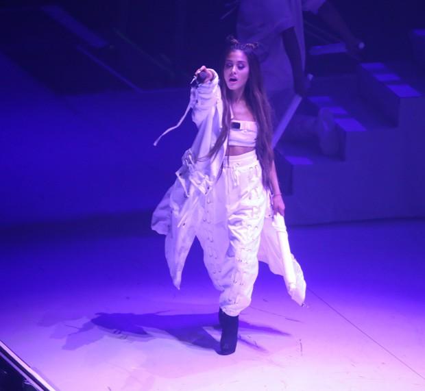 Ariana Grande em show no Rio de Janeiro (Foto: Anderson Borde/AgNews)