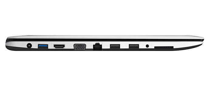 Computador tem bom nível de conectividade, com HDMI, VGA, Ethernet e unidade de DVD, além de portas USB e leitor de cartões (Foto: Divulgação/Asus)