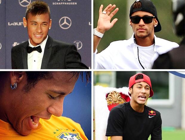 montagem Neymar jogador Boleirama (Foto: Editoria de Arte)