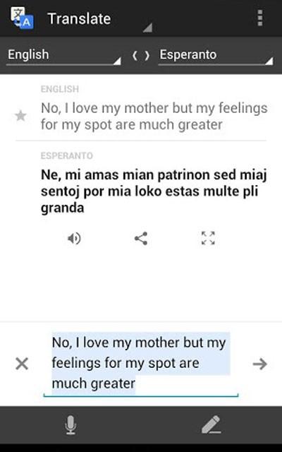 """Tela do aplicativo """"Google Translate"""" para smartphones e tablets, que funciona sem conexão à internet (Foto: Reprodução)"""