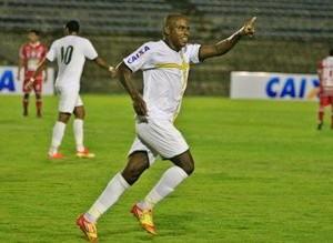 Baiano, do Brasiliense, comemorando o gol  (Foto: Divulgação/Brasiliense f.c.)