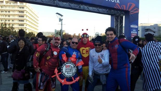 Super-heróis corintianos (Foto: Arquivo Pessoal)