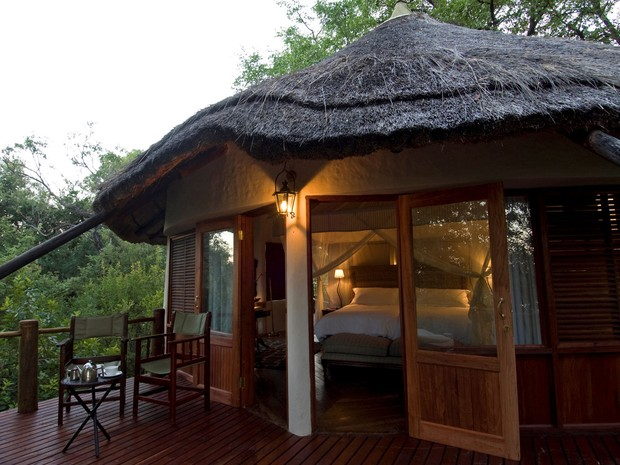 Casa na árvore do hotel Sanctuary Sussi & m na Zâmbia (Foto: Divulgação/Sanctuary Retreats)