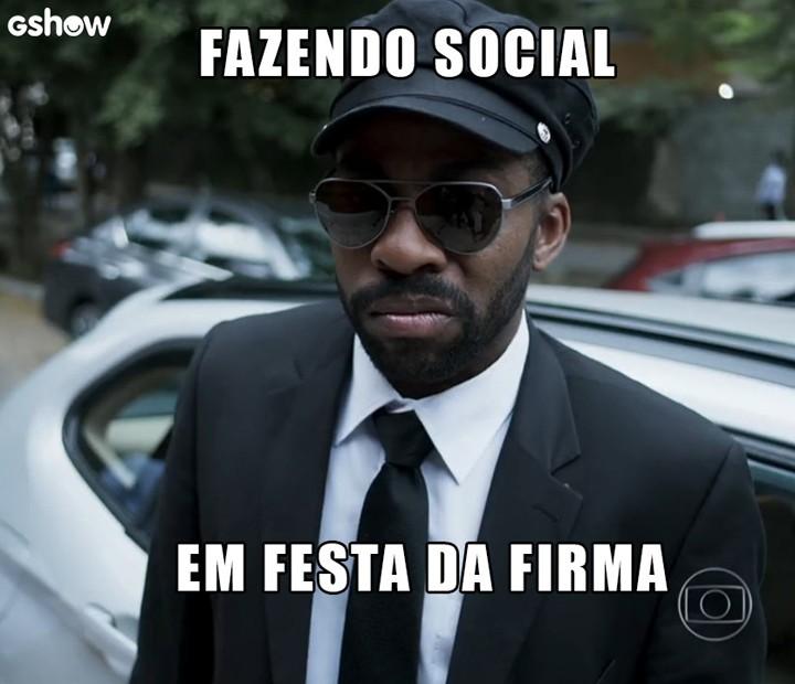 Brau não consegue disfarçar suas caras e bocas (Foto: TV Globo)