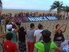 Ato em Fortaleza protesta contra impeachment e deputado Bolsonaro