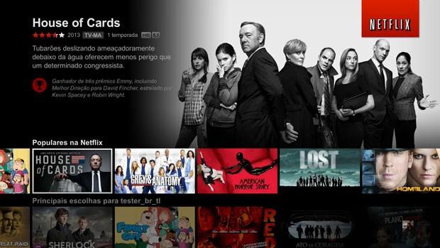 Netflix atualiza tela inicial do serviço de filmes por streaming na internet (Foto: Divulgação/Netflix)