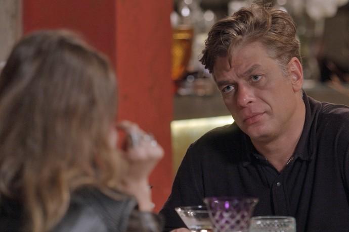 Arthur abre o coração com ex-mulher (Foto: TV Globo)