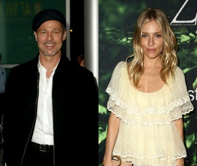 Brad Pitt e Sienna Miller (Foto: Rich Fury / Getty Images / AFP)