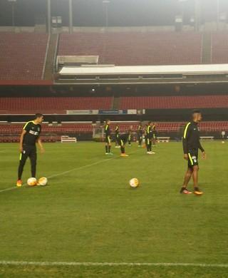 Atlético Nacional treino Morumbi (Foto: Bruno Rocha)