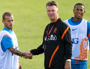Sneijder Louis van Gaal Holanda (Foto: EFE)