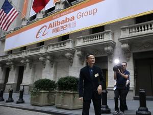 Alibaba estreia na bolsa (Foto: Brendan McDermid/Reuters)