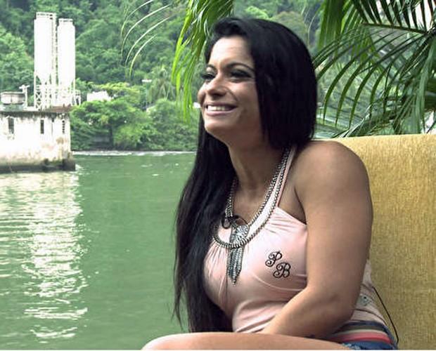 Dani Sperle falou sobre sua vida de famosa (Foto: Caldeirão do Huck/TV Globo)