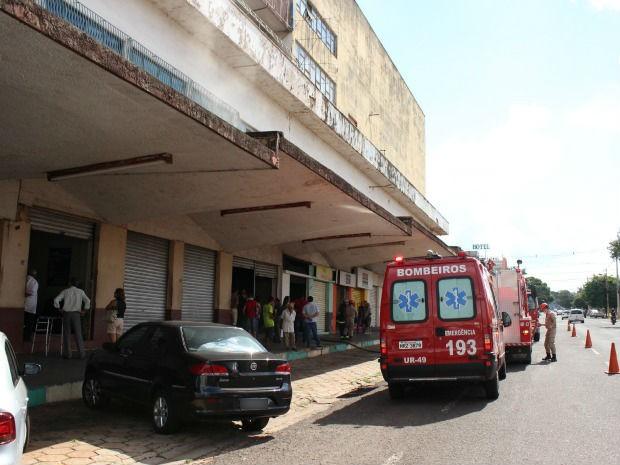 Princípio de incêndio em Campo Grande (Foto: Lucas Lourenço/G1 MS)