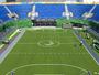 Quadra de tênis da Rio 2016 vira campo de futebol para Paralimpíada