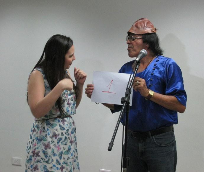 Durante a entrevista e apresentação os participantes deram um show de talento (Foto: Laurivâmia Fernandes/Gshow)