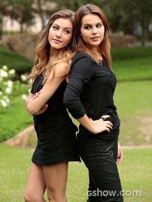 Hanna e Bianca são amigas na vida real (Foto: Felipe Monteiro / TV Globo)