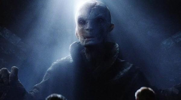O ator Andy Serkis no papel do vilão Snoke da franquia Star Wars (Foto: Reprodução)