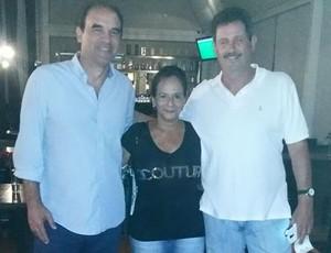 Ricardo Gomes, Duílio e sua esposa, Nice Dias (Foto: Arquivo Pessoal/Duílio Dias)