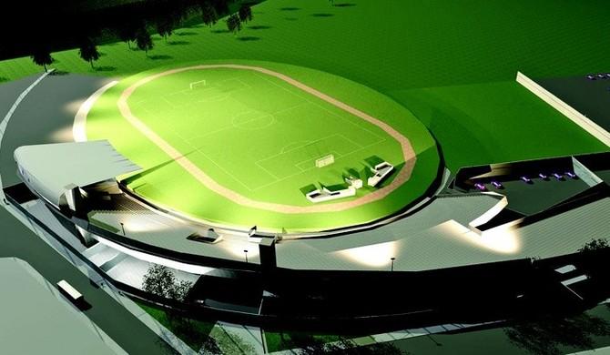 Estádio Antônio Fernandes, projeto (Foto: Divulgação / Pref. de Guarujá)