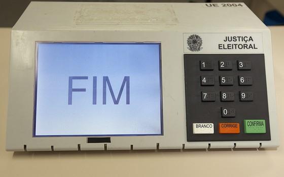 Urna eletrônica utilizada nas eleições brasileiras (Foto: LatinContent/Getty Images)