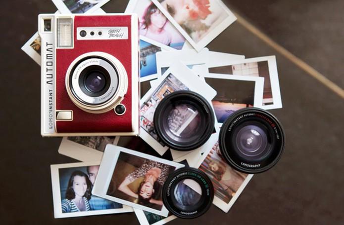 Câmera LomoInstant permite revelar fotos na hora (Foto  Divulgação  Kickstarter) 005a51b785