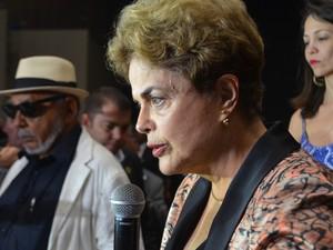 Dilma Rousseff participou de uma audiência pública em João Pessoa (Foto: Krystine Carneiro/G1)
