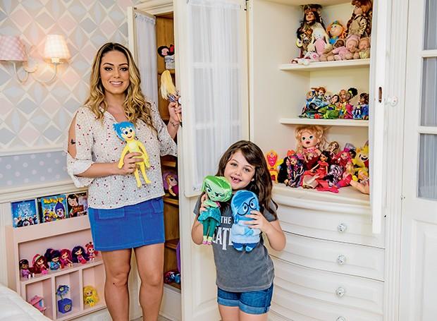 Maysa tem uma coleção de bonecos de pelúcia do filme Divertida Mente  (Foto:  )