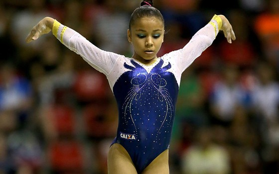 A ginasta brasileira Flávia Saraiva (Foto: Matthew Stockman/Getty Images)