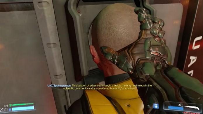 Doom: use o corpo para entrar na sala da BFG (Foto: Reprodução/Thomas Schulze)
