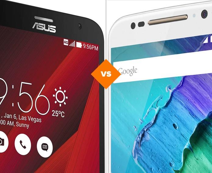 Zenfone 2 ou Moto X Style? Descubra qual 'top gigante' é melhor (Foto: Arte/TechTudo)