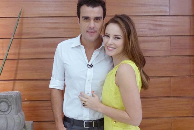 Joaquim Lopes diz que ele e a mulher Paolla Oliveira lidam bem com o assédio (Foto: Mais Você / TV Globo)