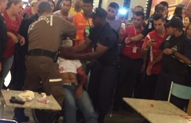 Homem mata mulher e tenta suicídio em shopping de Aparecida de Goiânia, Goiás (Foto: Divulgação/PM)