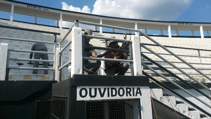 Moisés Lucarelli passa por reforma (Foto: Vinícius Bueno)